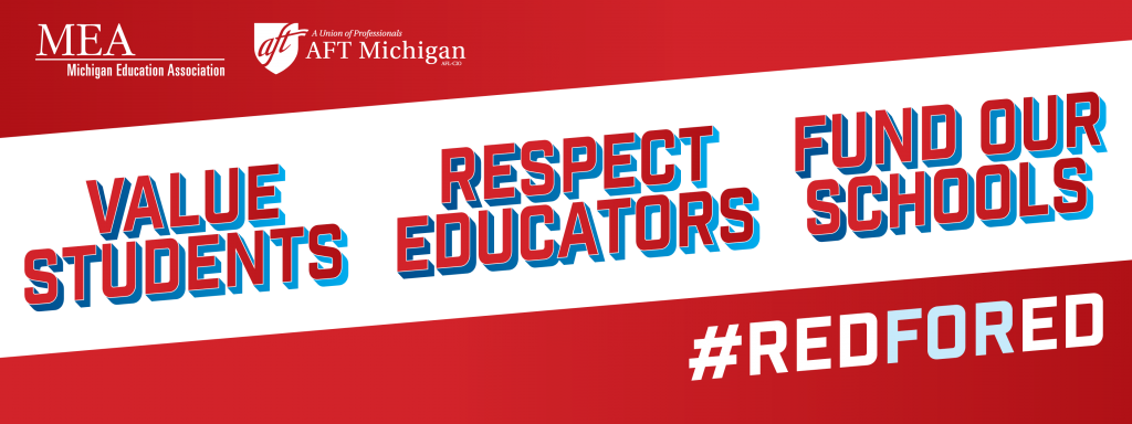 Value Students, Respect Educators, Fund our Schools. #RedForEd